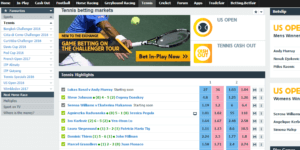 Betfair has a wide selection of tennis betting markets