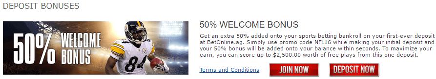 Betonline Signup Bonus