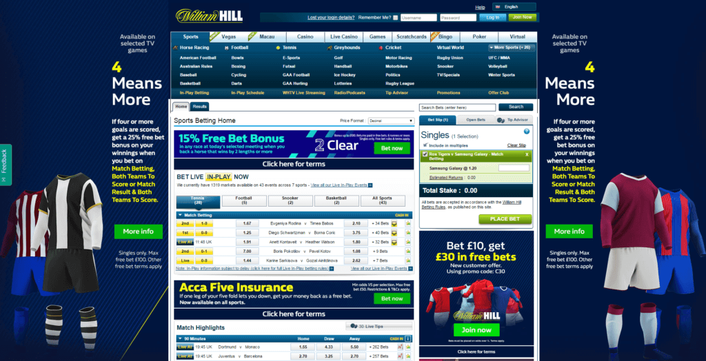 Williamhill Sc2 Step 1