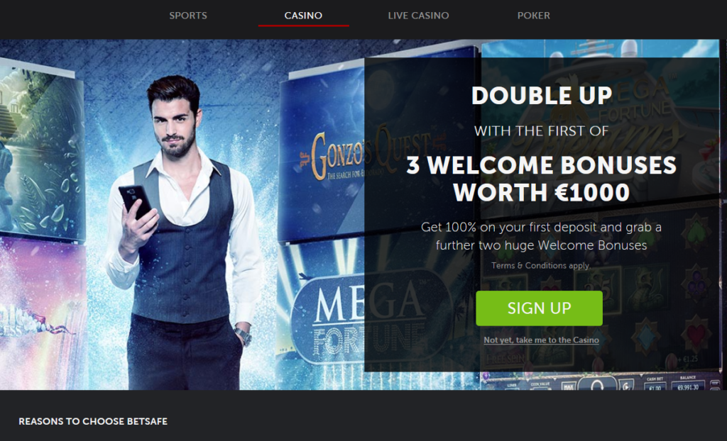 Betsafe Homepage