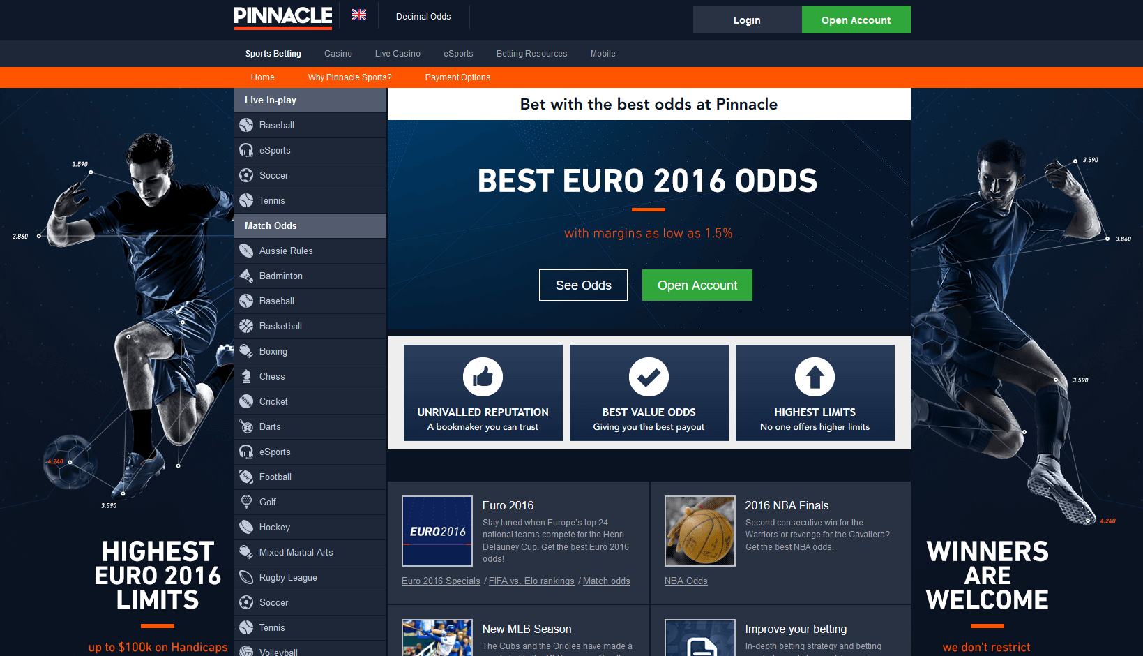 VIP-bet com | pinnacle-homepage-1
