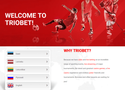 Triobet eSports Homepage