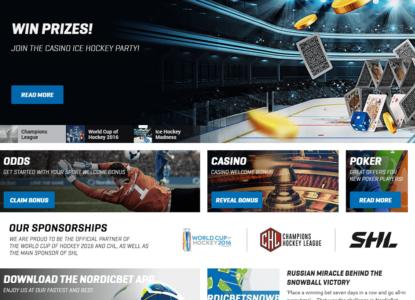 NordicBet eSports Homepage