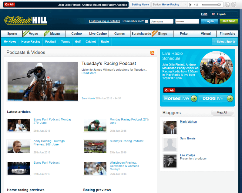william-hill-podcasts-videos