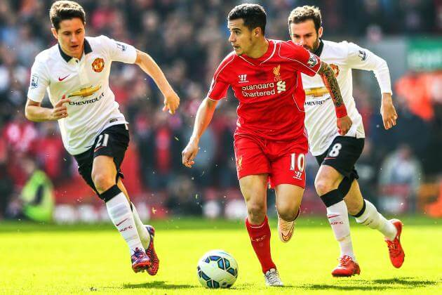 manchester united vs liverpool coutinho