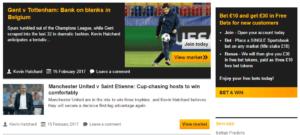 Betfair EUropa League Beting Offers