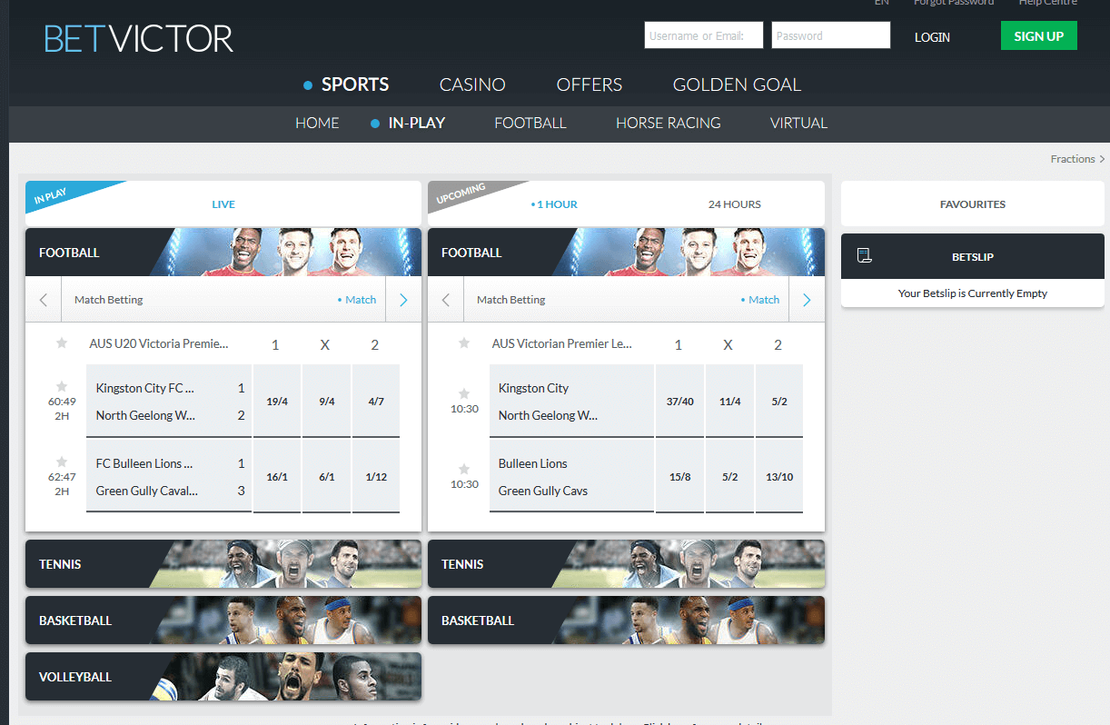 BetVictor Review Live Betting