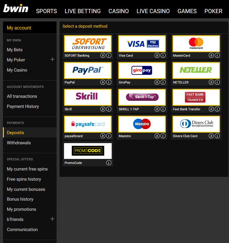 bwin betting