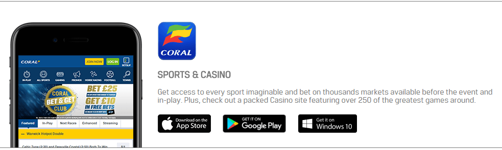 Coral Mobile Betting App VIP Bet