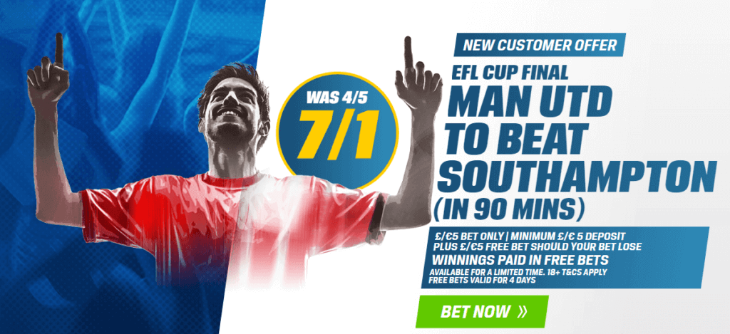 Coral League Cup Final Betting Promotions