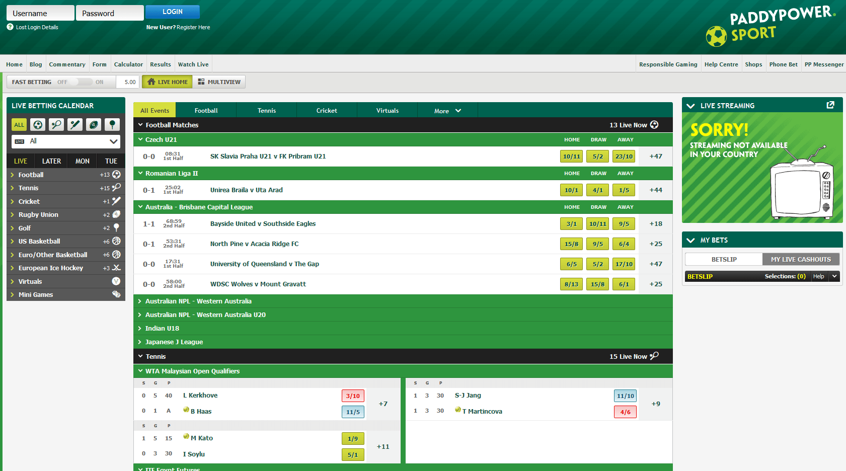 Paddy Power Tennis: Australian Open