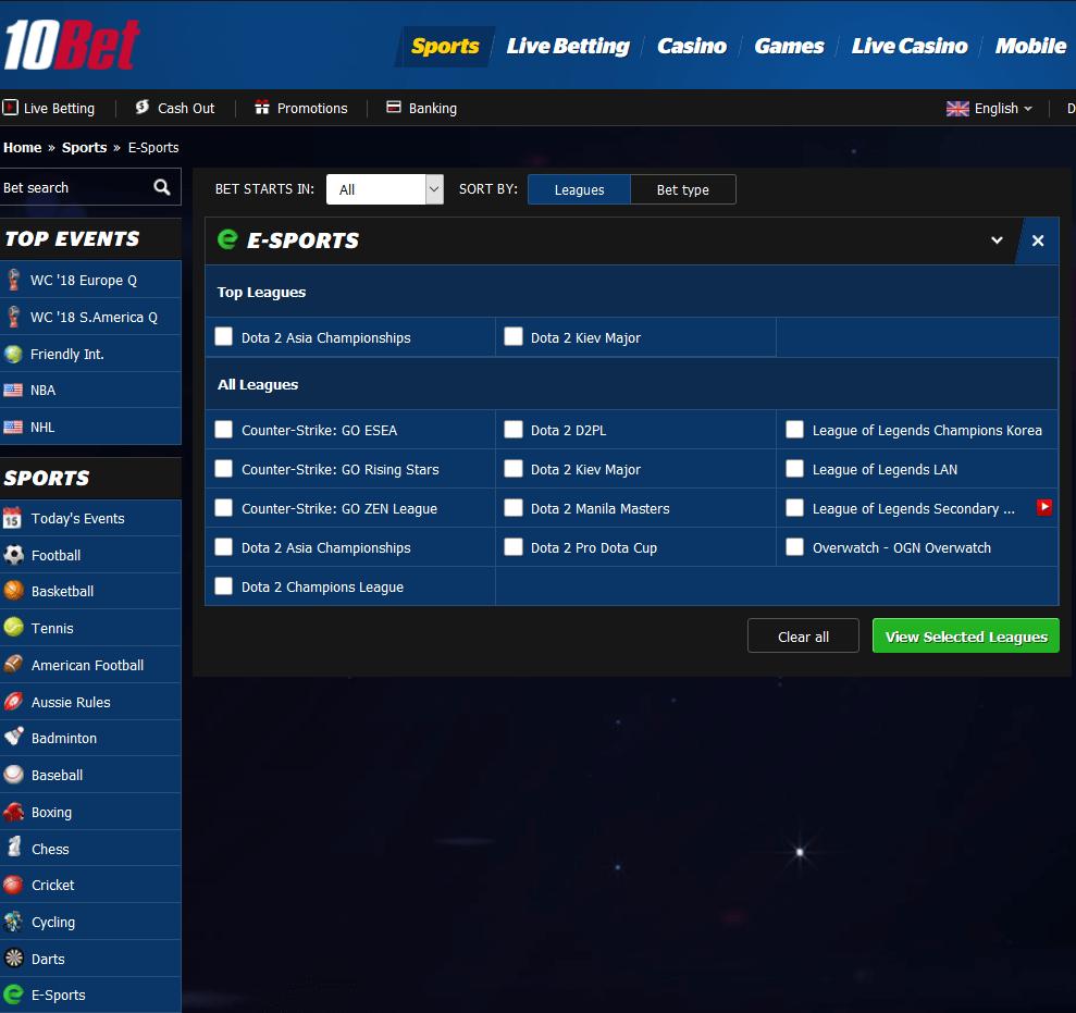 10bet Esports 2