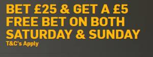 Betfair Bet25 Get 25