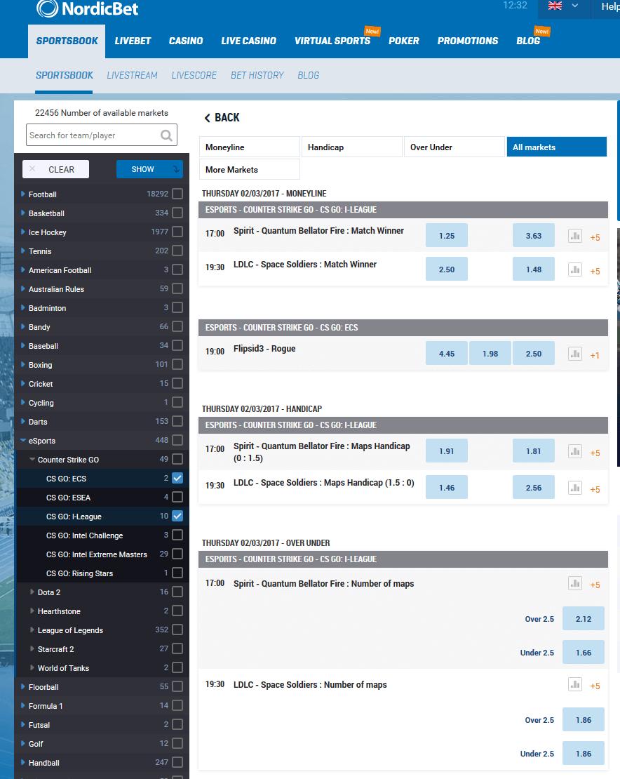 Nordicbet Esports Schedule