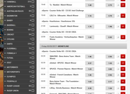 Triobet Esports Schedule