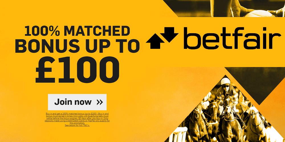 Betfair £100 Bonus