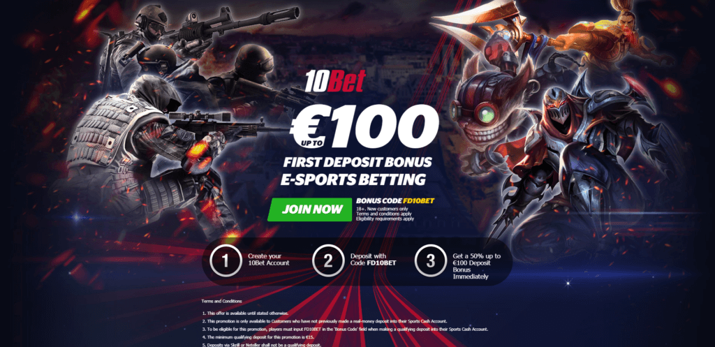 10bet Betting Bonus Step 2