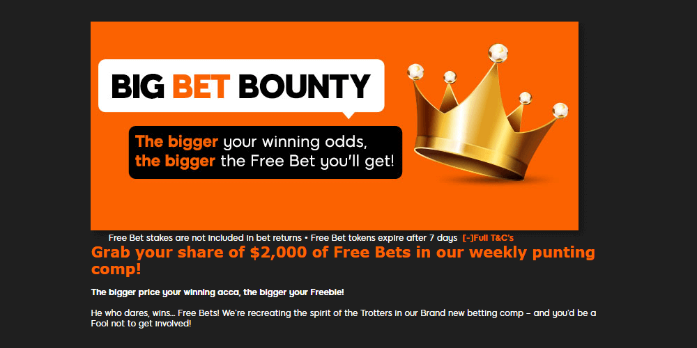 888Sport Big Bet Bounty
