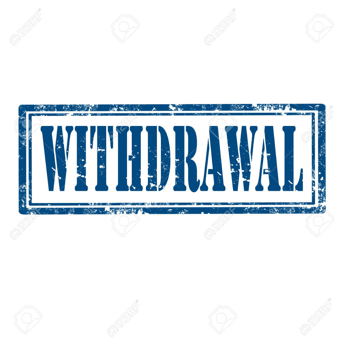 Withdrawal Stamp