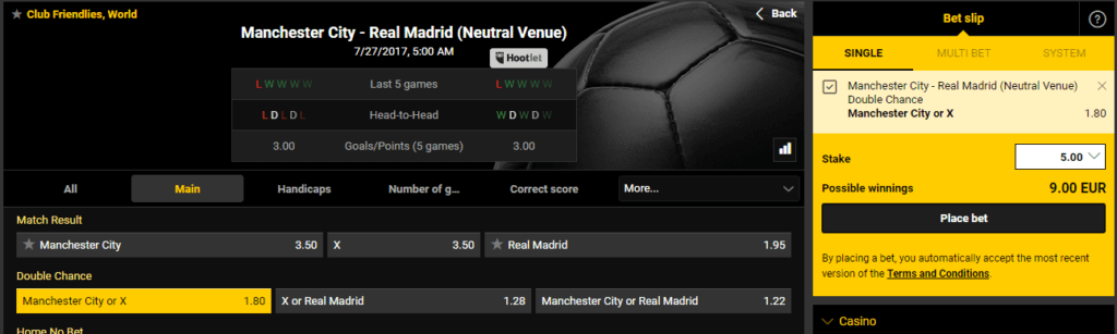 Man City Double Chance Real Madrid 1