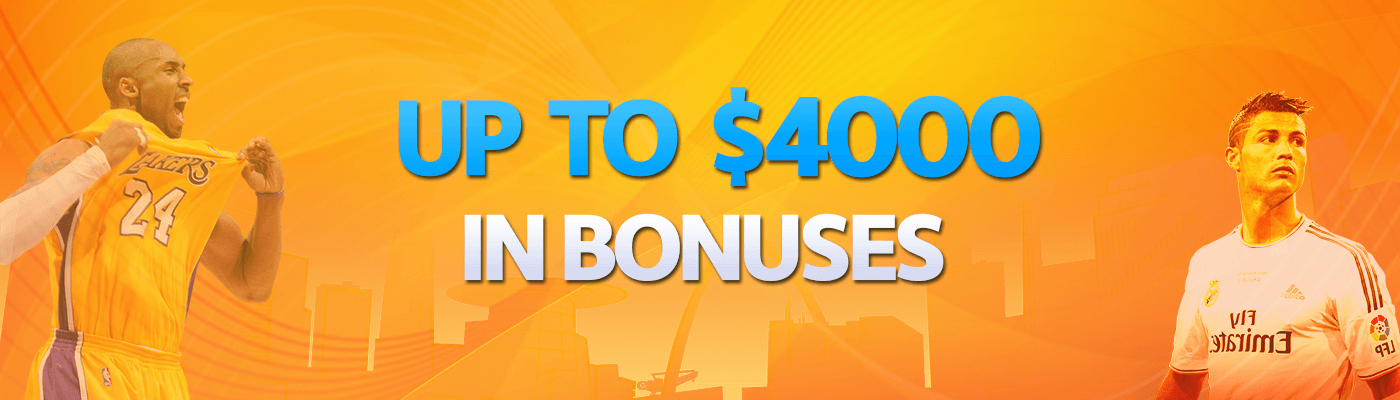 Earn up to $4,000 in Betting Bonuses