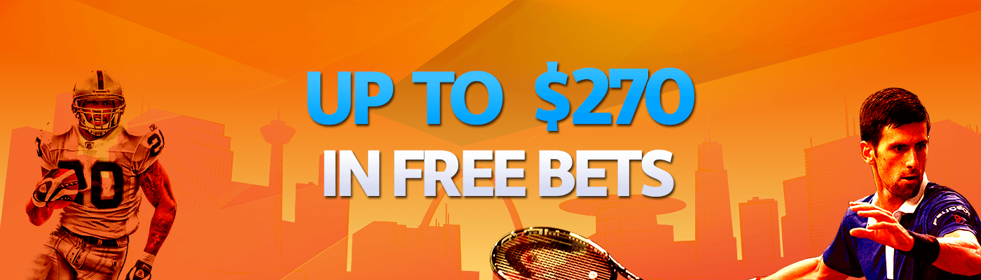 Reward yourself with up to $270 in Free Bets
