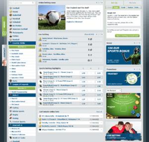 Bet At Home Esports Main Page
