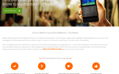 Betsson Live Streaming Experience