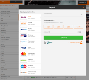 Betsson Top 1 Sign Up Step 3