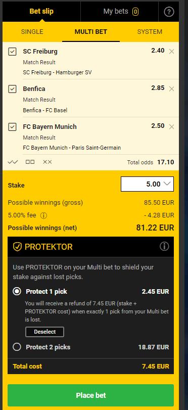 Bwin Bet Protektor Bet Slip