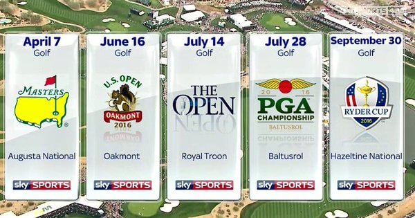The Golf Majors VIp Bet