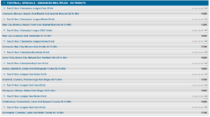 Winner Sports Enhanced Odds Offers