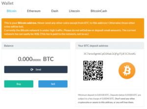 BitPanda Bitcoin Balance Overview
