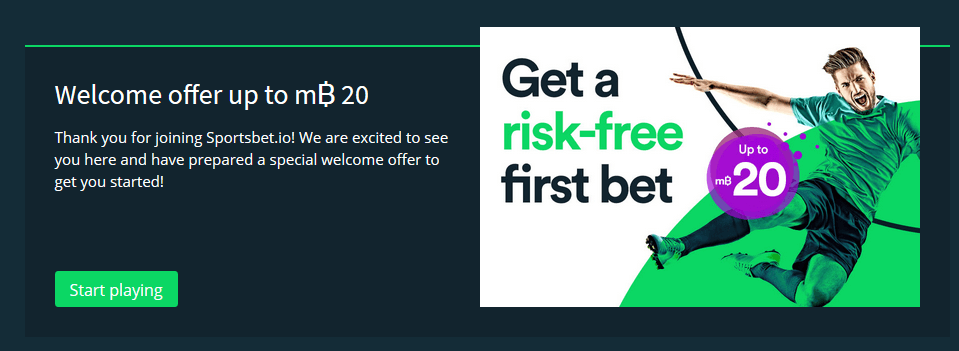 Sportsbet.io Risk Free Bet