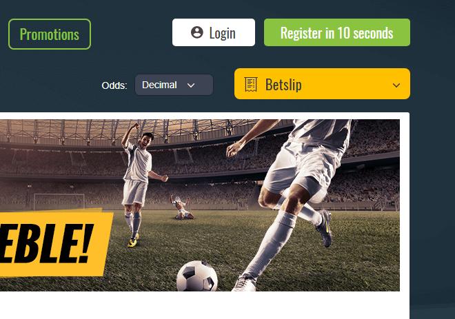 Sportsbet.io Registration Button