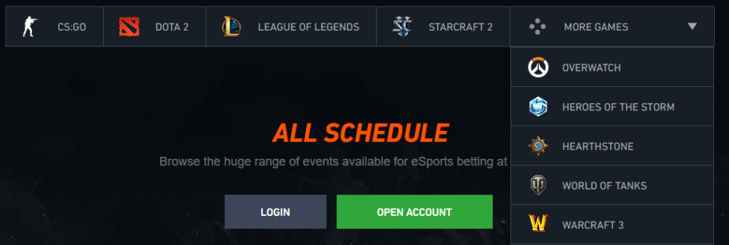 Pinnacle ESports Betting Odds