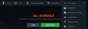 Pinnacle ESports Betting Odds