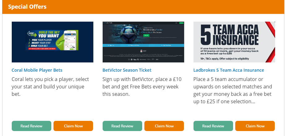 VIP Bet Special Offers