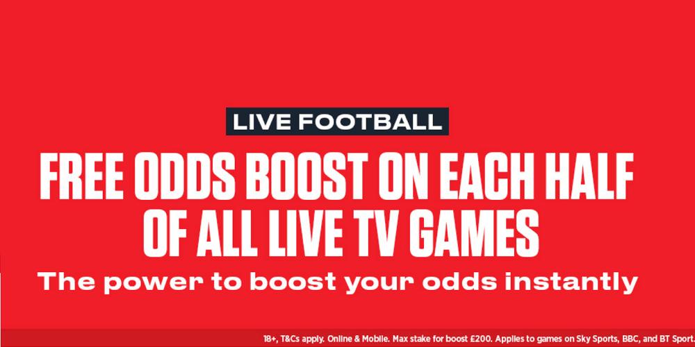 Ladbrokes In-Play Odds Boost