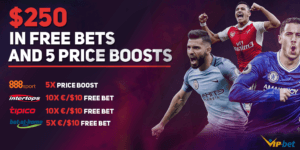 VIP-bet $250 Exclusive Free Bets and Price Boosts Giveaway