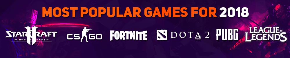 Most Pupular Games 2018