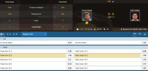 1XBet Tennis Live Betting Markets