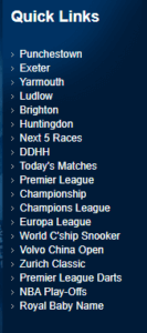 Betfred Most Popular Betting Markets