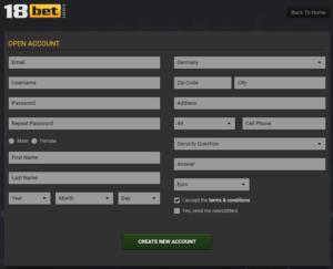 18Bet Registration