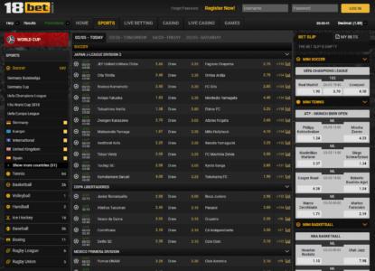 18Bet Sports Betting