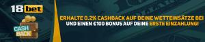 18bet Cashback Header Banner De