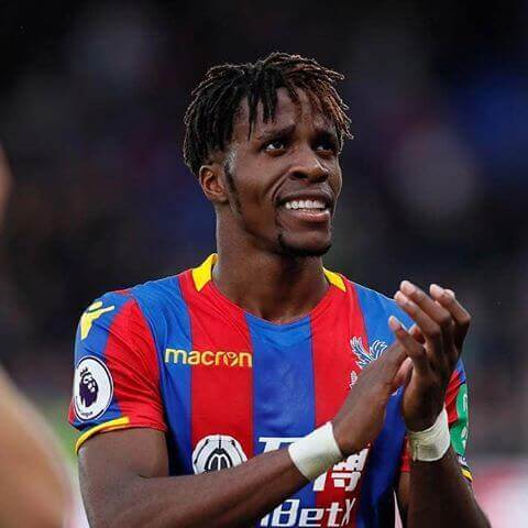 Crystal Palace Striker Wilfried Zaha