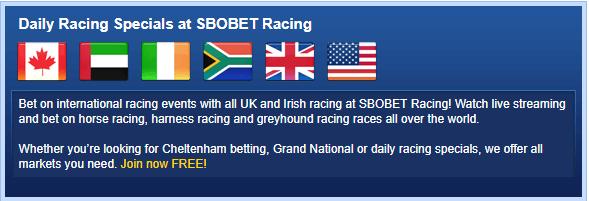 SBOBet Racing Betting