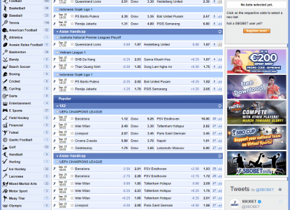 SBOBet Betting Markets Overview