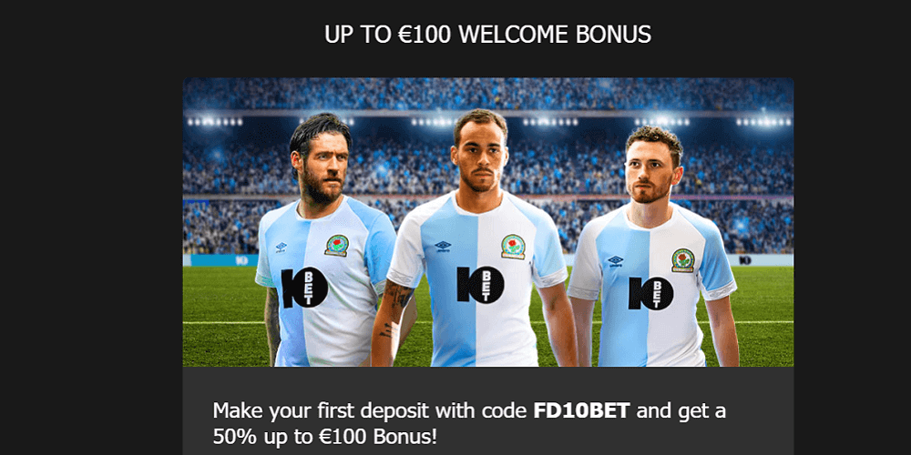 10Bet Sign Up Offer 50% Up To £100 Bonus